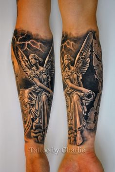 The goddess Nike,tattoo by Charlie Norway.