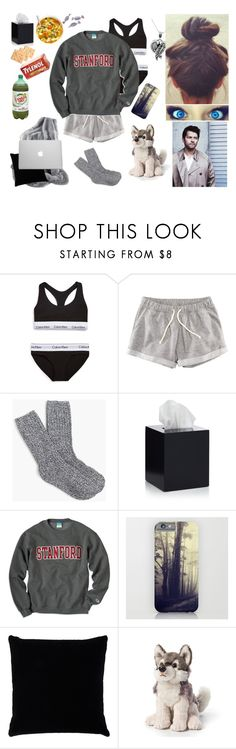 """*Ellie Winchester* Sick and Cas takes care of me"" by eyelesswolfy ❤ liked on Polyvore featuring Calvin Klein Underwear, H&M, J.Crew, Jonathan Adler, Burton, Kevin O'Brien, Handle, Nat & Jules and Jewel Exclusive"