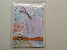 Sweet Sorbet Paper, Eggstra Spectacular stamp set, card stock and accessories from StampinUp!