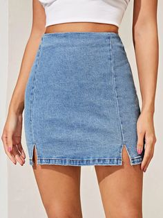 Shop New in Women's Clothing Girls Fashion Clothes, Teen Fashion Outfits, Women's Fashion Dresses, Fashion Sewing, Denim Fashion, Modelos Fashion, Jeans Rock, Mode Style, Cute Casual Outfits