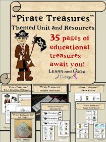 My Shae Noel - Home of Learn and Grow Designs: Pirate Treasures FREE Educational and Party Printables, Art Projects, Pirate Booklists, and All Things Wonderful Link Up 10-5