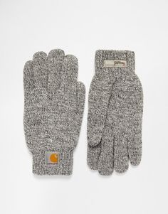 Gloves by Carhartt Fine knit Classic design Ribbed cuff opening Applique logo patch Machine wash 100% Acrylic