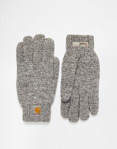 Handschuhe von Carhartt Feinstrick Klassisches Design gerippte Bündchen Logoaufnäher Maschinenwäsche 100% Acryl