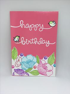 "Birthday card made with Altenew stamp ""Adore you """