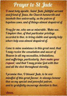 Special prayers.