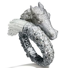 A fantastical Giampiero Bodino -White gold and diamond Chimera bracelet Photo by Laziz Hamani