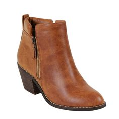 Amazon.com: Reneeze POLO-01 Women's Zipper Stacked Chunky Heels Strappy Ankle Booties: Clothing