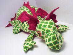 Diggles Dragon Soft Toy Pattern PDF Pattern by FunkyFriendsFactory