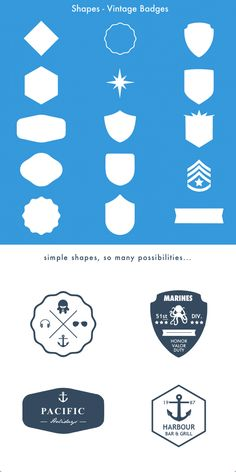 68c8bfabe8e23 Vintage Badge Shapes - Pixelmator Template