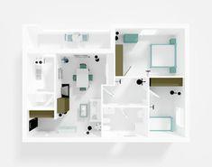 interior rendering of roofless apartment with furnishings Interior Rendering, 3d Rendering, Interior Design, Stock Portfolio, Smart Home, Bathroom Medicine Cabinet, Locker Storage, Stock Photos, Projects