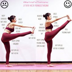 "Yoga Teacher | #thetwomartinas (@martina__rando) on Instagram: ""#MartinaFixTheAsana: utthita hasta Padangusthasana  This is a great balancing pose also great for…"""