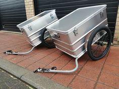 Aluminium box 80 by 60 cm on a bike trailer Bike Trailer, Cargo Bike, Donkey, Trailers, Facebook, Box, Home Decor, Snare Drum, Decoration Home