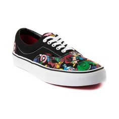 Shop for Vans Era Avengers Skate Shoe in Black White at Journeys Shoes. Shop today for the hottest brands in mens shoes and womens shoes at Journeys.com.The ultimate power team assembles to take down the villains that no single superhero can contest alone. They are the Avengers, and remaining at the teams core are Thor, Captain America, Iron Man, and The Incredible Hulk! And now, thanks to the mighty collaboration between Vans and Marvel Comics, this super team is proudly repped on a rockin…
