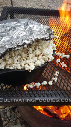 Campfire popcorn. Easy and quick.