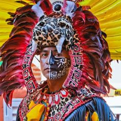 Lively colors! Mayan dancer
