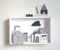 Make a diorama with one of the shadow boxes we have lying around (Voorbeeld kijkdoos). Use color. Diy Paper, Paper Art, Paper Crafts, Origami Paper, Paper Toys, Diy For Kids, Crafts For Kids, Big Kids, Matchbox Art