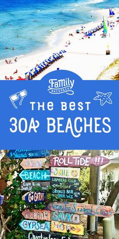 Are you looking for the best beaches on 30A? Read our travel guide to learn where to park, which beaches are the best with kids and the family, which areas have the best things to do, the best activities, and the best restaurants! #30A #beachvacation #familyvacation #familytravel #beach