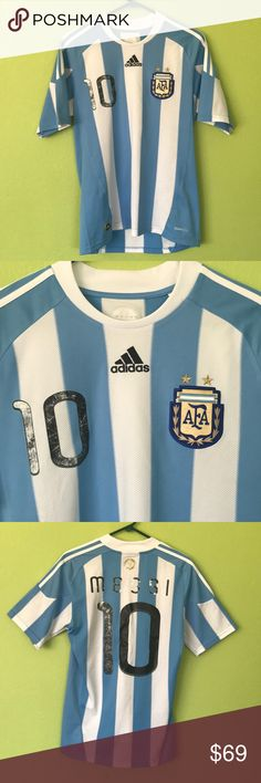 a72e79de1 Adidas Leonel Messi Jersey soccer tee size S-M Original 2010 Argentinian  Soccer player Leonel Messi jersey