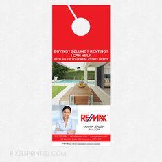 Keller Williams Door Hangers right at home realtor door hanger | marketing materials