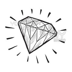 Vector of Diamond sketch ($12) ❤ liked on Polyvore