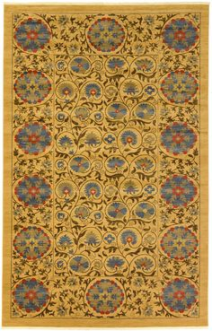 Tan 10' 6 x 16' 5 Allover Sultanabad Rug | Area Rugs | eSaleRugs