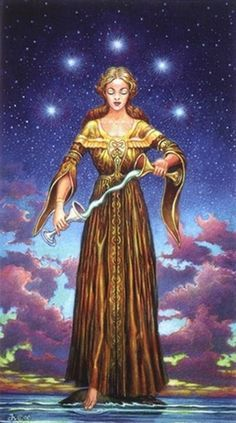 Temperance by David Higgins (Sacred Isle Tarot)