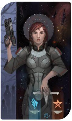 Justice (Commander Shepard) - Mass Effect Tarot