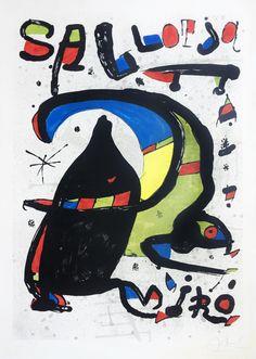 """Joan Miró """"Joan Miró Pintura - Sa Llotja"""" Litografía Año: 1978 Dimensiones: 96,5 x 67,5 cm Tirada de 60 ejemplares Firmada y numerada a mano Certificada por la Fundació Joan Miró Mourlot 1166 Precio: Consultar  Web: www.grabadosylitografias.com Más información: galeria@grabadosylitografias.com Victor Vasarely, Marc Chagall, Joan Miro Pinturas, Miro Artist, Joan Miro Paintings, Disney Characters, Fictional Characters, Funny Pictures, Snoopy"""