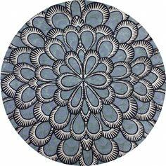 """Peacock"" design by NIBA Rug Collections"