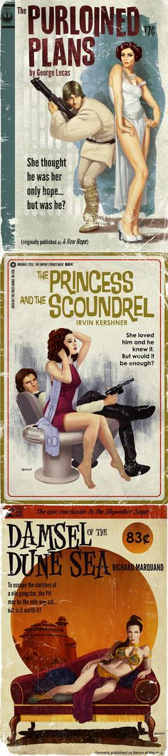 Original 'Star Wars' Film Trilogy Re-imagined as Pulp Novel Illustrations
