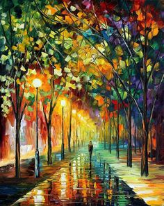 Impressionism pallet knife oil painting