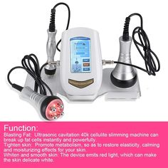 Ultrasonic cavitation cellulite slimming machine can break up fat cells instantly and powerfully. Remove facial wrinkle, dilute facial freckle, eliminate extra fat cellulite, the skin gets whiter and smooth. Radios, Massage Machine, Radio Frequency, Anti Cellulite, Tools For Sale, Vide, Skin Tightening, Smooth Skin, Fett