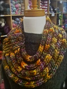 Ropes Cowl - Love this use of i-cord from Gina Brown's Yarn Vancouver
