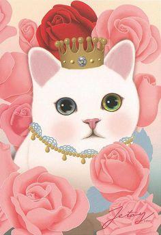 Jetoy Choo choo cat postcard - Flower 4   Flickr - Photo Sharing!