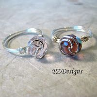 Free Time Crafts: DIY: Simple Wire-Wrapped Ring Tutorials
