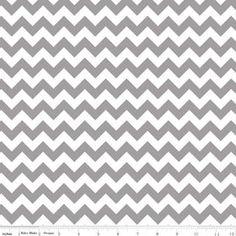 Grey Chevron fabric  by Riley Blake Small Chevron by GlamFabrics, $3.00
