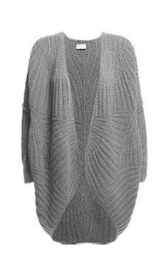 dimensional wave handknit  cocoon cardigan