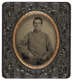 Unidentified Union solider, hand-colored tintype c. 1861-5 (Library of Congress)