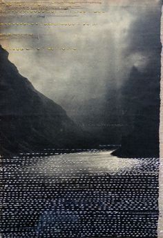 Hinke Schreuders views on paper, embroidery and felt on paper on linen. Foto Transfer, Photocollage, Paper Embroidery, Embroidery Ideas, Art Graphique, Art Plastique, Fabric Art, Medium Art, Mixed Media Art