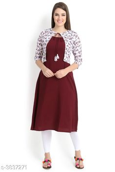 Kurtis & Kurtas ALC Creation Women Solid Crepe Kurti Fabric: Kurti -  Crepe , Jacket - Crepe Sleeve Length: Three-Quarter Sleeves Work / Pattern: Kurti - Solid , Jacket - Printed Combo of: Single Sizes: Kurti - XS - 34in, S - 36in, M - 38 in, L - 40 in, XL - 42 in, XXL - 44 in , Jacket -  XS - 34in, S - 36in, M - 38 in, L - 40 in, XL - 42 in, XXL - 44 in Sizes Available: XS, S, M, L, XL, XXL *Proof of Safe Delivery! Click to know on Safety Standards of Delivery Partners- https://ltl.sh/y_nZrAV3  Catalog Rating: ★4.1 (11759)  Catalog Name: ALC Creation Women Solid Crepe Kurtis CatalogID_538850 C74-SC1001 Code: 254-3837271-