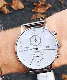 5ef6b9ba9a3d1 Montre chrono Silver White (3 modèles) – Kapten & Son >> Disponible chez