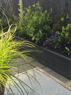 Planter painted in cuprinol garden shades 'black ash'