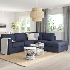 IKEA - VIMLE, Sectional, corner, Orrsta black-blue, This soft and cozy sofa will have a long life as the seat cushions are filled with high resilience foam that gives good support for your body and quickly regains its original shape when you get up. Sofa Bed, Sectional Sofa, Couch, Sleeper Sofas, Ikea Vimle, Cosy Sofa, Storage Footstool, 61 Kg, Large Sofa