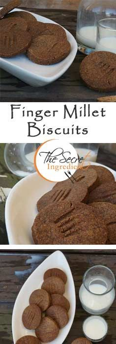 Ragi or Finger Millet Crisp Biscuits with Whole Wheat Flour.