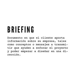 ✔ briefing