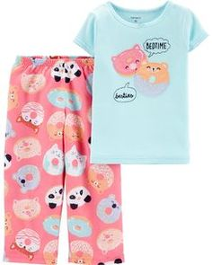 Ready your precious sleeper for cozy dreams in this too-sweet pajama set for essential comfort. For child's safety, garment should fit snugly. This garment is not flame resistant. Cute Pajama Sets, Cute Pajamas, Fleece Pajamas, Girls Christmas Pajamas, Kids Jewelry Box, Cotton Pjs, Baby Girl Pajamas, Boy Shoes, Ballet