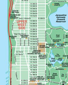 The map shows the location of New York City's four East