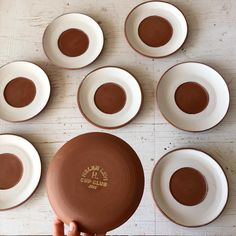 """""""Glazed saucers ready to be fired for the last edition of this year's Cup Club. Very grateful to the 2015 members and it's bittersweet to be finishing up.…"""""""