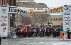 Oshkosh Turkey Trot 2013. The event benefits the Oshkosh Boys and Girls Club and YMCA.