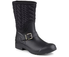 0caf64e667e23 SPERRY TOP SIDER WALKER BLACK ROPE ALL WEATHER STS95941 Womens BOOT Size 8